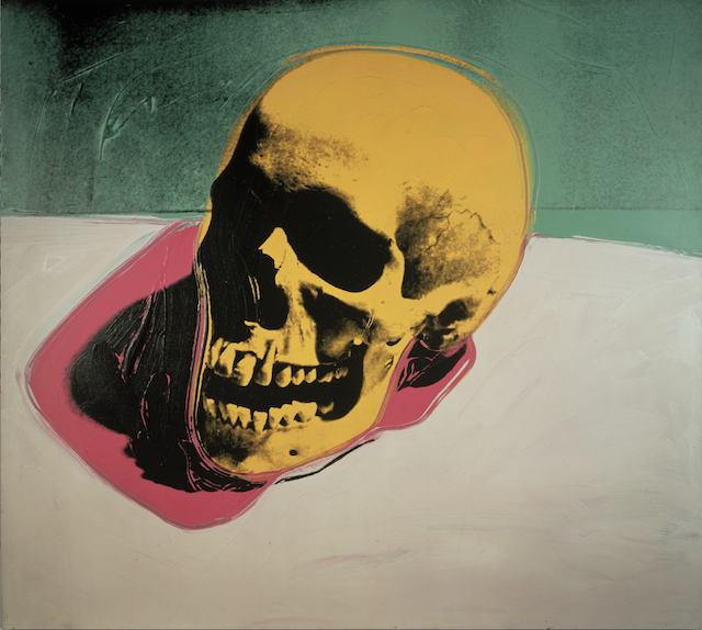 "Andy Warhols ""Skull"" © 2014 The Andy Warhol Foundation for the Visual Arts, Inc. / Artists Rights Society (ARS), New York"