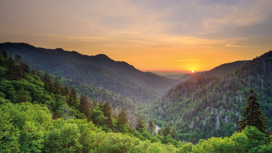 Sonnenuntergang am Newfound Gap in den Great Smoky Mountains © SeanPavonePhoto / Getty Images