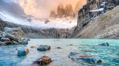 Torres del Paine im Sonnenaufgang - (Foto: © Witt Duncan/500px Royalty Free)