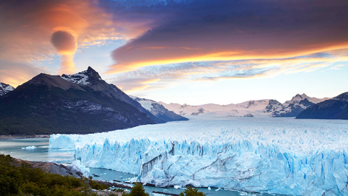 Perito Moreno Gletscher bei Sonnenuntergang - (Foto: © Matt Munro/LP TRAVELLER MAGAZINE COLLECTION)