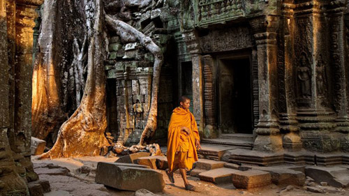 Mönch in Ta Prohm - (Foto: ©Stefan Fors/BEAUTIFUL WORLD COLLECTION)