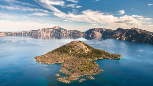 Wizard Island im Crater Lake National Park - (Foto: © Alexander S. Kunz, Getty Images)