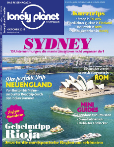 Cover Lonely Planet Traveller Oktober 2015